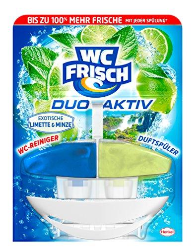 WC Frisch Duo Aktiv Duftspüler Exotische Limette & Minze, 4er Pack (4 x 1 Stück)