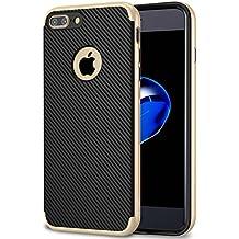 Funda iPhone 7 Plus, Ubegood iPhone 7 Plus de doble TPU y el parachoques PC Carcasa iPhone 7 Plus para el iPhone 7 Plus (Oro)