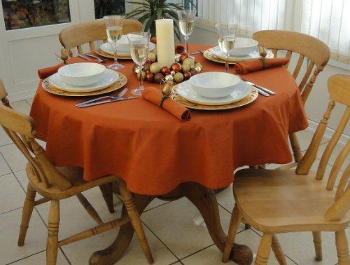 THE TABLECLOTH COMPANY 139,7cm Burnt Orange Weihnachten Tischdecke rund (4-Sitzer)