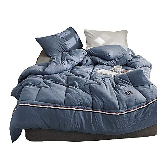 NOBIE, Bettdecke, Winter Bettdecke, Gewaschene Baumwoll Bettdecke, Einfarbig, Geeignet Für Doppel- und Einzelbetten,Royalblue,150cm*200cm/2KG