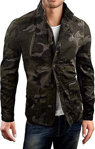 Grin&Bear slim fit Kurzmantel Field jacket Feldjacke Jacke, camouflage, M, AK15