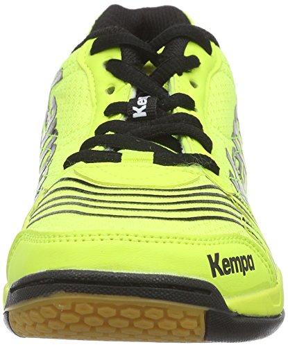 Kempa  ATTACK THREE, Chaussures de handball mixte adulte Multicolore - Mehrfarbig (fluo gelb/schwarz)