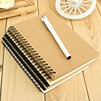 Reeves Retro Spiral Bound Coil Sketch Book Blank Notebook Kraft Sketching Paper by Unknown