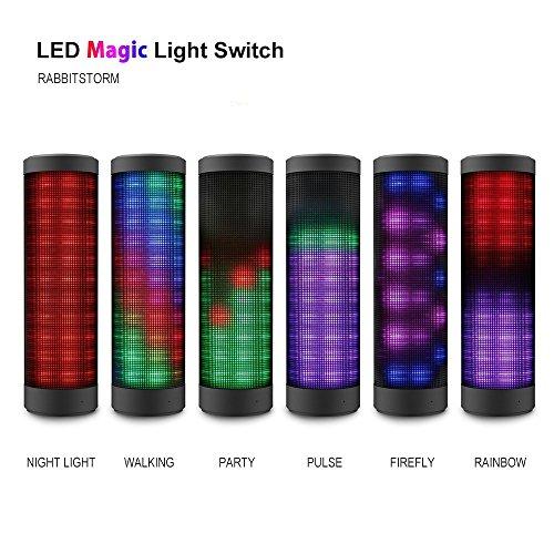 Rabbitstormaltavoz-porttil-Bluetooth-altavoz-al-aire-libre-Hi-Fi-inalmbrica-Bluetooth-con-funcin-de-soporte-colorido-luz-incorporada-LED-micrfono-de-manos-libres