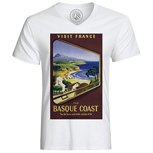 T-Shirt Cote Basque Voyage France Travel Coast Retro Vintage Affiches