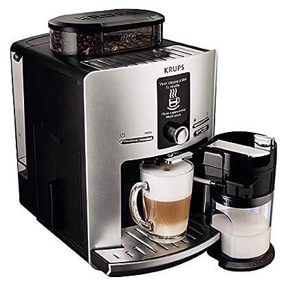 Krups-LattEspress-Quattro-Force-EA82FE-Kaffeevollautomat-1450-Watt-17-Liter-One-Touch-Funktion-Milchbehlter-15-Bar-Silber-Zertifiziert-und-Generalberholt