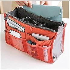 KANTHI Unisex Nylon Multipocket Handbag (Multicolour)