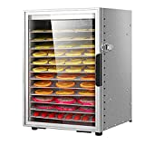ZYFA Food Dehydrator Machine, Digital Timer and Temperature Control for Jerky,Fruit,Vegetables&Nuts,12 Drying Shelf