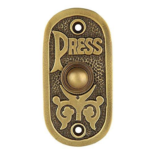 A29 Bell Push Button, Antik Messing Finish
