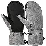 VBIGER Guanti da Sci Guanti Invernali Guanti Antispruzzo per Uomo Donna, Grigio