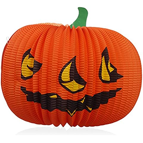 Calabaza de Halloween/ Halloween/Super Tote papel calabaza Linterna-B
