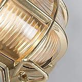 QAZQA Landhaus/Vintage/Rustikal/Retro Außen Wand- und Außen Deckenleuchte/Deckenlampe/Lampe/Leuchte Nautica 1 oval Gold/Messing/Außenbeleuchtung/Schlafzimmer Metall Oval LED geeignet - 9