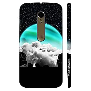 Enthopia Designer Hardshell Case Turquoise Moon Back Cover for Motorola Moto X Style
