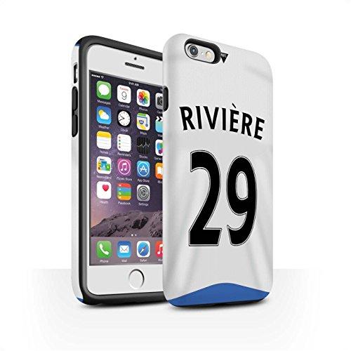 Offiziell Newcastle United FC Hülle / Matte Harten Stoßfest Case für Apple iPhone 6 / Cissé Muster / NUFC Trikot Home 15/16 Kollektion Rivière
