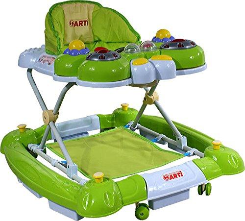 Andador para bebés regulable en altura con juguetes y sonido ARTI mariposa 12R funcional cuna verde