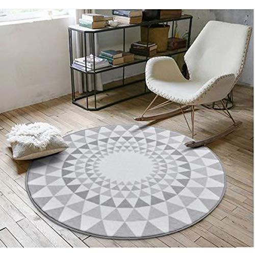 JIADT Teppich Nordic Fashion runde Carpet couchtisch Zimmer Schlafzimmer Wohnzimmer Teppich Garten Kinder Matte Computer Stuhl drehstuhl Kissen -
