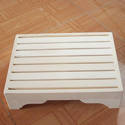 LJHA Tabouret pliable Repose-pieds en bois solide/tabouret de chevet/pédale de salle de bain/tabouret pédaler tabouret/repose-pieds de bureau chaise patchwork (Couleur : B, taille : 10 * 40cm)