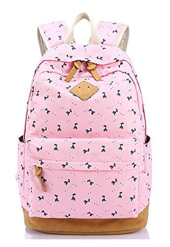 Longzibog Dual Tracolle Regolabili E Appeso Loop 2016 New Girl Backpack Satchel Pink