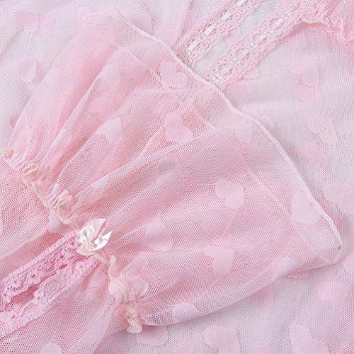 Laixing Damen Schlafanzug Weiß