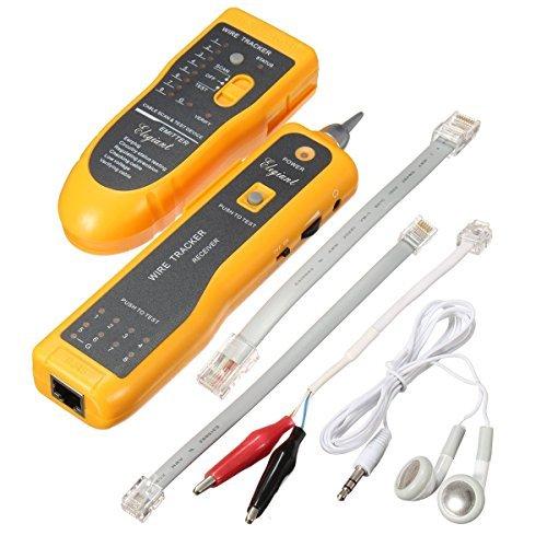 Tester Rete Telefonica, ELEGIANT Cavo Finder Telefono Tracker filo RJ45 RJ11 Finder Cable Tester Locator Ethernet LAN Network Cable Tester di Cavo Telefonico e Rilevatore di linea Del Cavo LAN