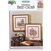 Oriental-Modello per punto croce, motivo: Gabbie per uccelli, 2 motivi, Color Charts