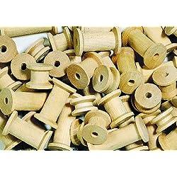 Bobinas de madera para construcción en las actividades en el aula 60Off
