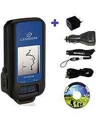 G-PORTER GP-102 - Kit de dispositivo GPS multifunción (incluye fuente de alimentación de 110 - 240 V, y cargador para coche de 12 V), color azul