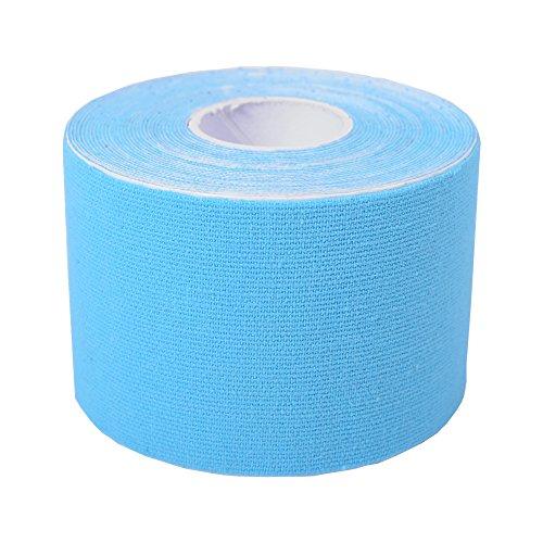 Cawila Kinesiotape, elastisches Sporttape für Physiotherapie, Freizeit, Sport und Medizin, 5,0cm x 5m, blau