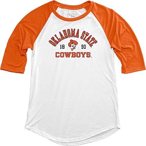 Blue 84 NCAA Oklahoma State Cowboys NCAA Damen Baseball-T-Shirt, Größe L, Orange