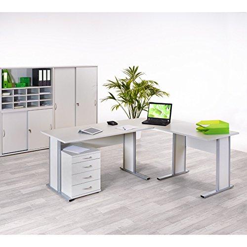 Broset Arbeitszimmer hellgrau Schreibtisch Brombel Arbeitsmbel Computertisch
