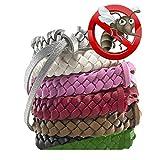 Bracelet anti-moustiques 5pc, meilleur répulsif antiparasitaire jusqu'à 250 heures de protection contre les moustiques et les insectes - [DEET-FREE, NO-SPRAY]