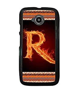 Printvisa 2D Printed Alphabet R Designer back case cover for Motorola Moto E2 - D4208