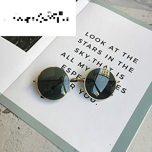 CYCY 2017 Neue runde Sonnenbrille männer Brille Sonnenbrille Frauen hip hop Sonnenbrille Gold Frame schwarz Film, hip hop Sonnenbrille Gold Frame grün Film