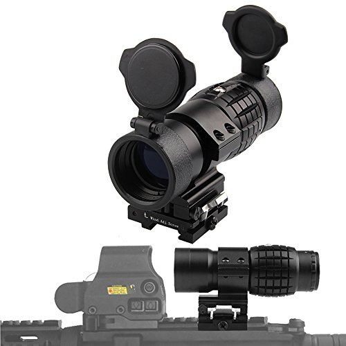 WEREWOLVES Tactical 30mm 3X Magnifier Scopes Optics Focus Adjusted Fits Red Dot Sight with Picatinny Weaver Rail Mount with Covers HT6-0067