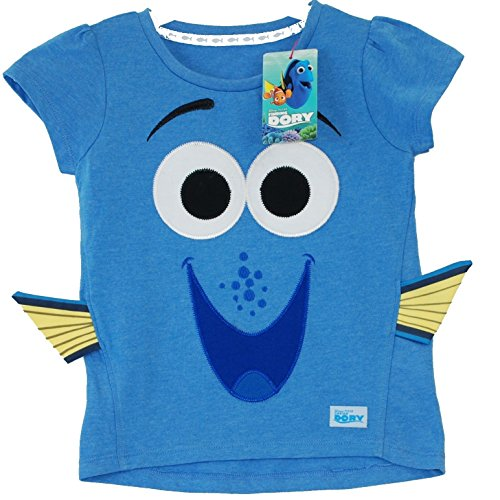 Disney® PIXAR Finding Dory Nemo Official T Shirt Blue New with Tag and Logo Soft Washable all Season Girls Boys Kids Favourite Size 4-5 Years