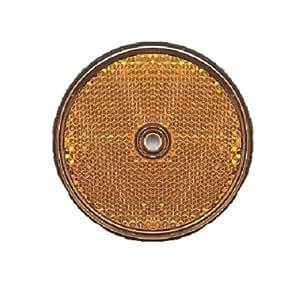 Alpin 63862 catadioptres avec trou rond-lot de 2–couleur: orange
