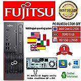 PC RICONDIZIONATO FUJITSU C700 INTEL CORE I3-2100 3.10GHZ/8GB/120GB SSD/WIN 10 PRO (Ricondizionato Certificato)