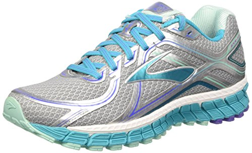 Brooks Adrenaline Gts 16 W - Zapatillas de Running Para Mujer, color Multicolor (Silver/Bluebird/Blue Tint), talla 39 EU