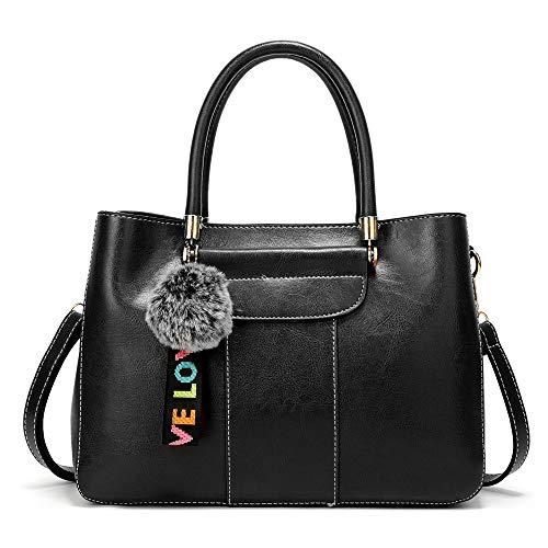 LBYMYB Damenhandtaschen Aus Leder Und Leder In Europa Und Amerika, Diagonalpaket, 32x12x23cm Handtasche (Farbe : Schwarz) Amerika 32