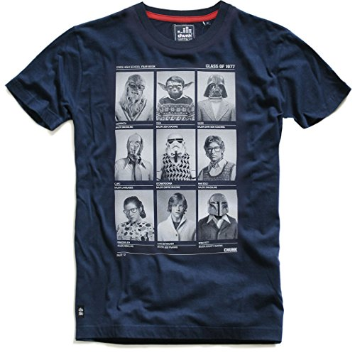 CHUNK Star Wars T-Shirt Class of 77, navy - Skywalker, Chewie, Yoda, Lea, Hansolo, XL