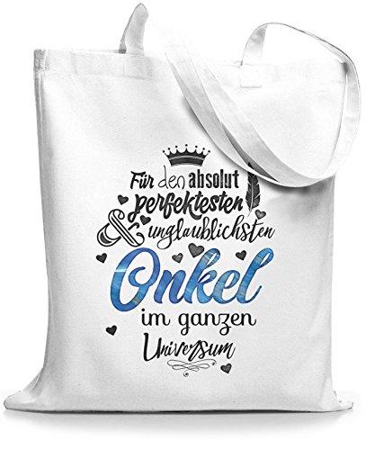 StyloBags Jutebeutel / Tasche Für den absolut perfektesten Onkel Weiß