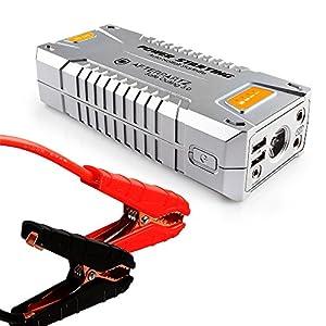 AFTERPARTZ DO-06 20000mAh 1000A para Todos los Motores, Notstart, Salida de tensión de 12 V-16 V, PowerBank, Cable de Arranque con Sistema de protección