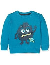 Blue Seven Mini Jungen Sweatshirt Mit Großem Monster, Der Mund Lässt Sich Öffnen, Sweat-Shirt Bébé Garçon
