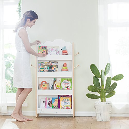 Labebe Kinder Bücherregal mit Haken | Bücherregal Kinder