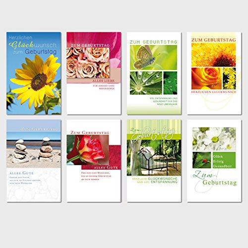 50 Geburtstagskarten Natur Grußkarten Glückwunschkarten Geburtstag Klappkarten mit 50 Umschlägen 510-3444