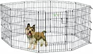 Midwest Black Exercise Pen With Full Max Lock Door, Black, 30 Inches