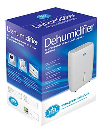 Déshumidificateur 30L/Jour avec Compresseur et Programmateur - Réservoir 4.7L
