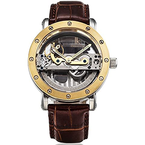 In pelle Cintura double-sided Cave automatici orologi meccanici/ sport di moda maschile orologio-B