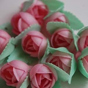 Cupcake Avenue - Fiori Edibili di Ostia, 36 Pezzi: 12 Margherite, 12 Piccole Rose e 12 Narcisi, Colore Rosa