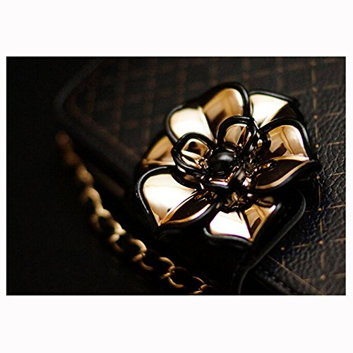 Spritech (TM) 3d Elegante Camellia Caratteristiche Case Lusso PU Pelle Wallet Case Flip Cover con Tracolla, Similpelle, Style-3, iphone 6s plus Style-3